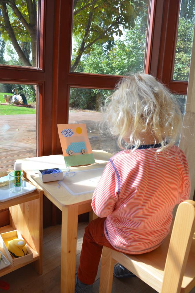 Montessori art corner indyvidual work